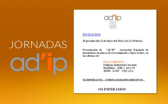 Invitación Jornadas AD'IP en Bilbao