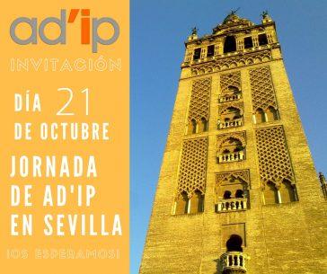 Invitación Jornada Ad'ip en Sevilla