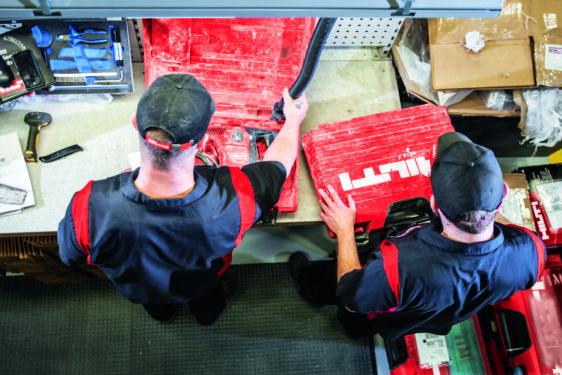 Herramientas Hilti, servicio de reparación