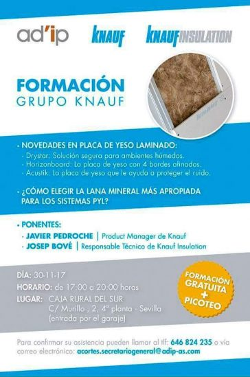 Formación en Sevilla con grupo Knauf